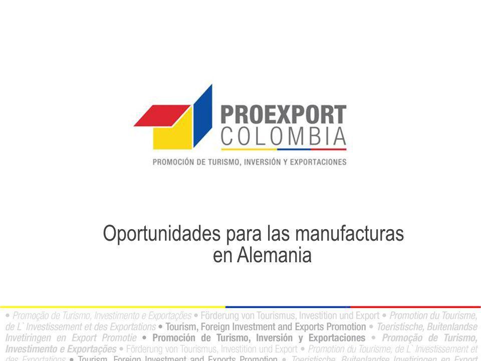 Oportunidades para las manufacturas en Alemania