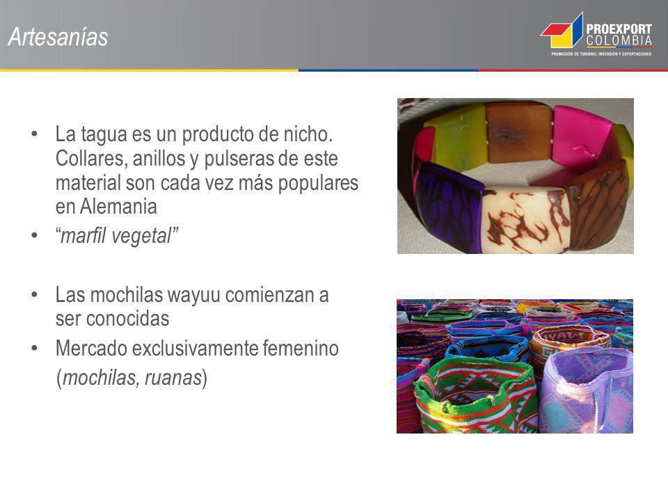 Artesanías La tagua es un producto de nicho. Collares, anillos y pulseras de este material son cada vez más populares en Alemania marfil vegetal Las m