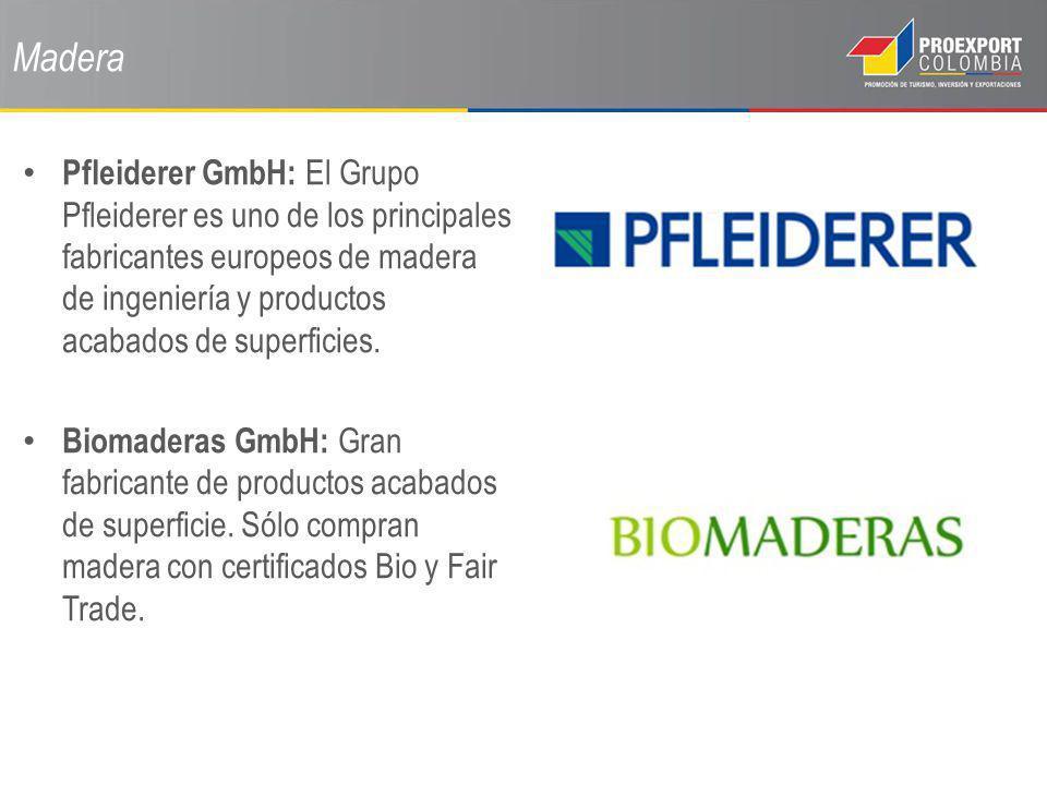 Madera Pfleiderer GmbH: El Grupo Pfleiderer es uno de los principales fabricantes europeos de madera de ingeniería y productos acabados de superficies