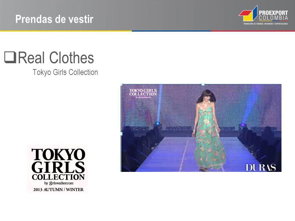 Prendas de vestir Real Clothes Tokyo Girls Collection