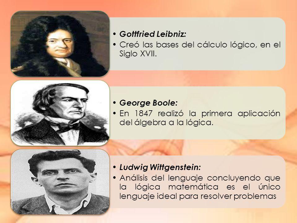Gottfried Leibniz: Creó las bases del cálculo lógico, en el Siglo XVII.