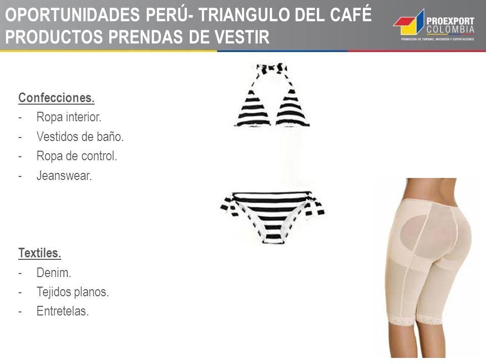 OPORTUNIDADES PERÚ- TRIANGULO DEL CAFÉ PRODUCTOS PRENDAS DE VESTIR Confecciones.