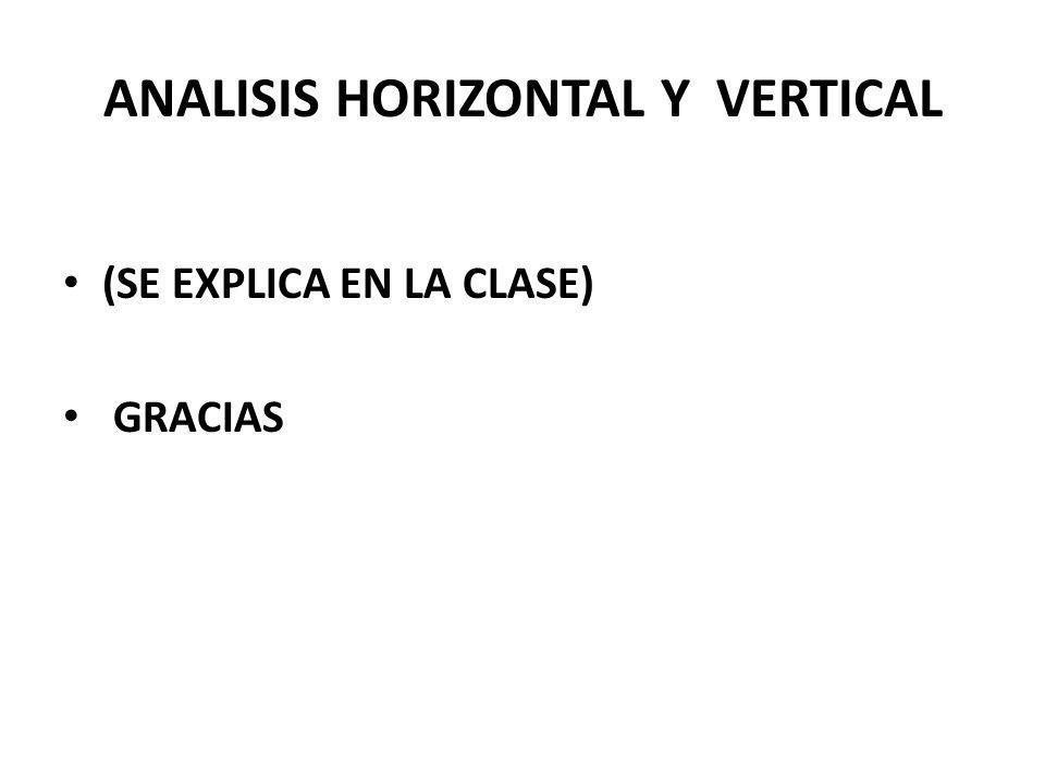 ANALISIS HORIZONTAL Y VERTICAL (SE EXPLICA EN LA CLASE) GRACIAS