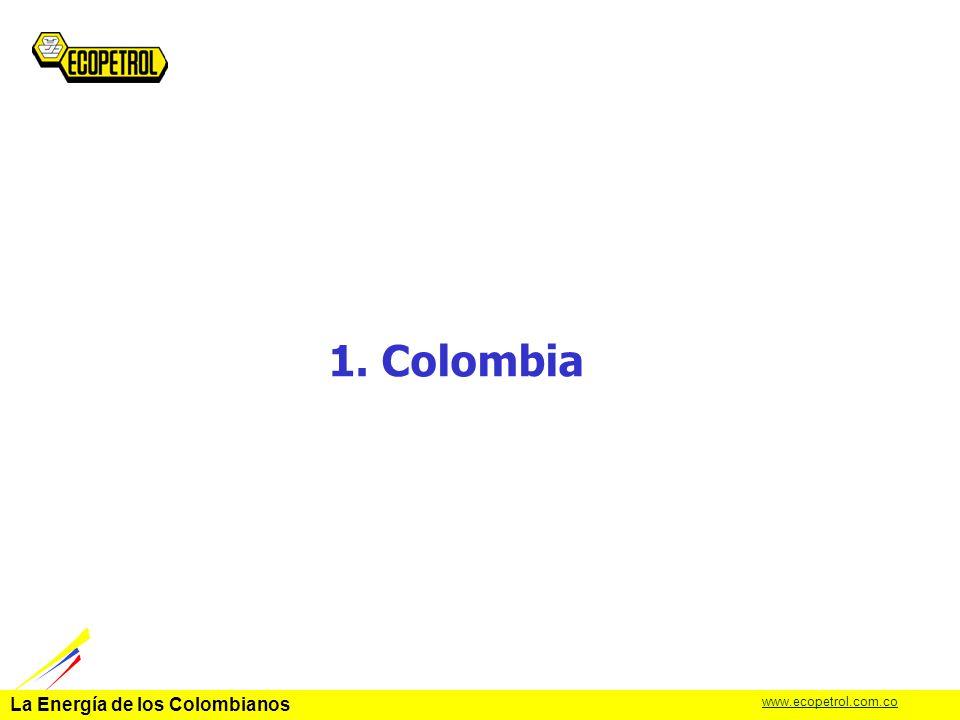 La Energía de los Colombianos www.ecopetrol.com.co La localización geográfica de Colombia representa un ventaja significativa para el comercio internacional.