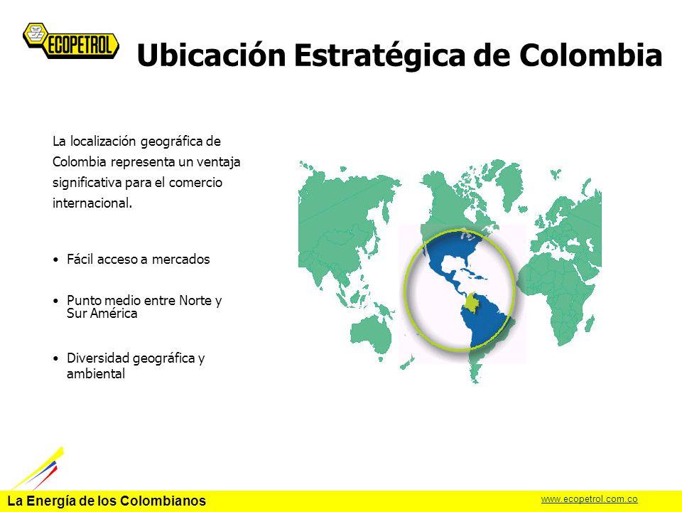 La Energía de los Colombianos www.ecopetrol.com.co Porqué el PMD Los estudios de Benchmarking realizados con Solomon Associates muestran que la Refinería de Cartagena no es competitiva por lo siguiente: – Tecnología obsoleta (Unidades de mas de 40 años) – Baja conversión (72 % VS 85 % de las Refinerías de vanguardia) – Baja capacidad de Refinación (75 kbpd VS 210 kbpd de capacidades típicas) – Baja confiabilidad mecánica Calidad de Combustibles: Nuevas regulaciones industriales y demandas por la industria automotriz.