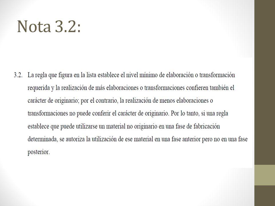 Nota 3.2: