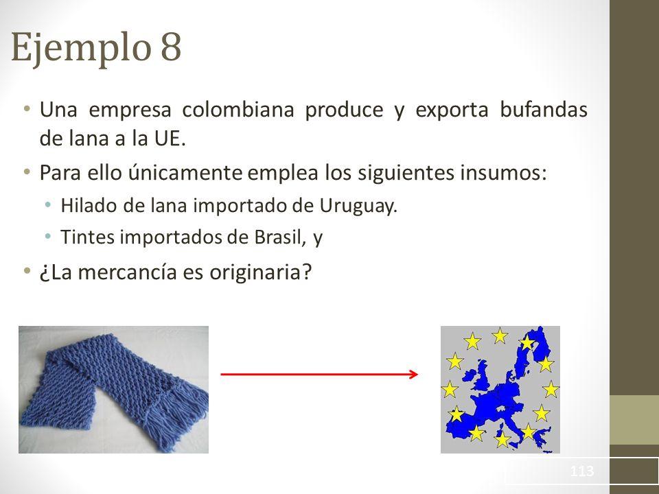 Una empresa colombiana produce y exporta bufandas de lana a la UE.