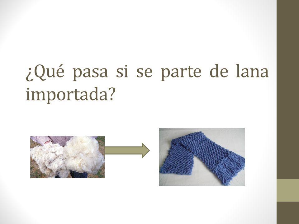 ¿ Qué pasa si se parte de lana importada?