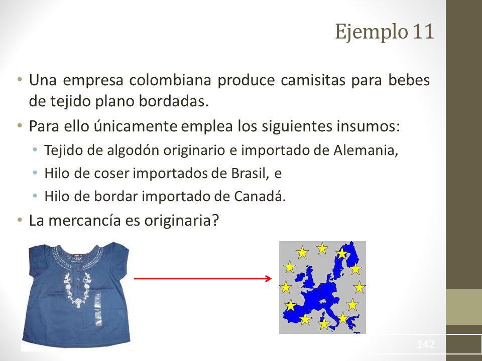 Una empresa colombiana produce camisitas para bebes de tejido plano bordadas.