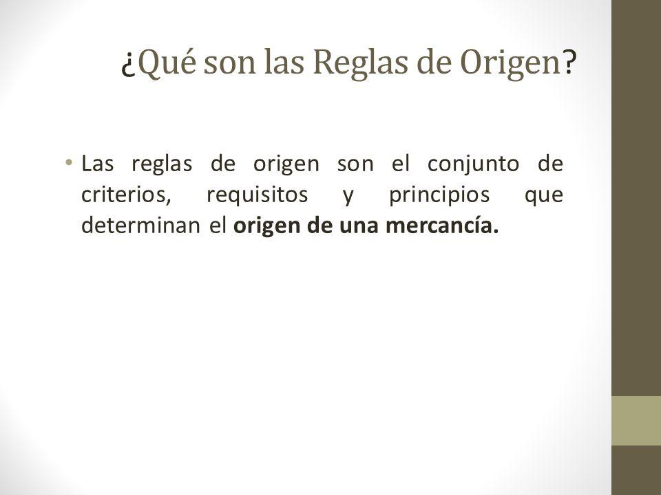 ¿ Qué son las Reglas de Origen .