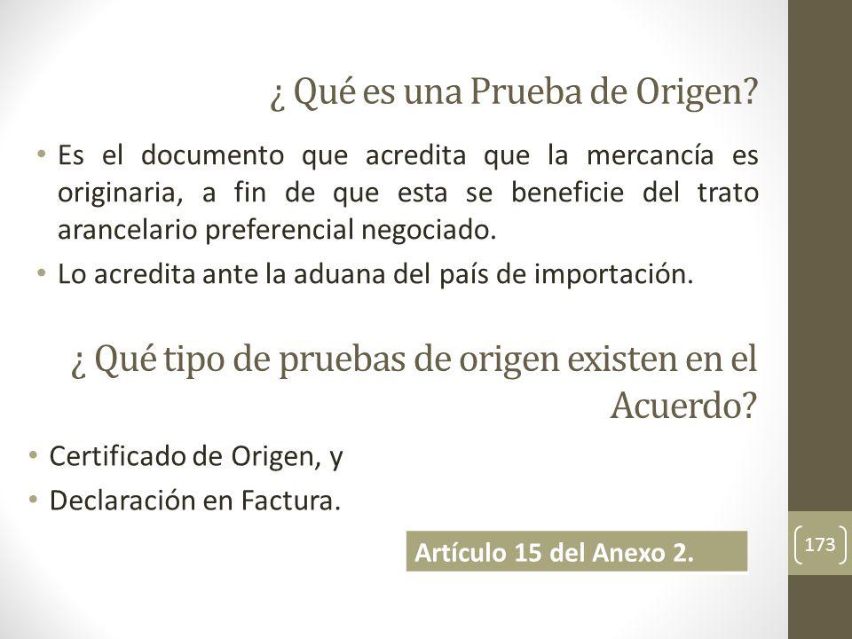 Es el documento que acredita que la mercancía es originaria, a fin de que esta se beneficie del trato arancelario preferencial negociado.