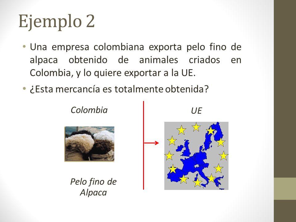 Pelo fino de Alpaca Colombia UE Una empresa colombiana exporta pelo fino de alpaca obtenido de animales criados en Colombia, y lo quiere exportar a la UE.