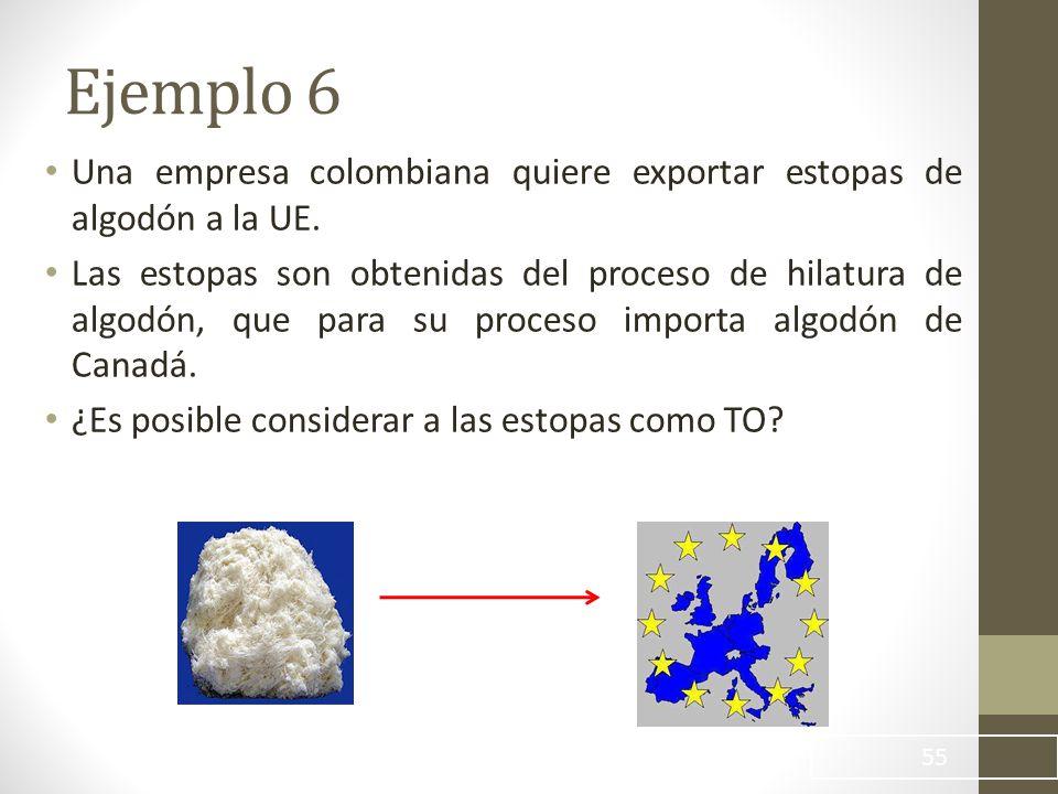 Una empresa colombiana quiere exportar estopas de algodón a la UE.