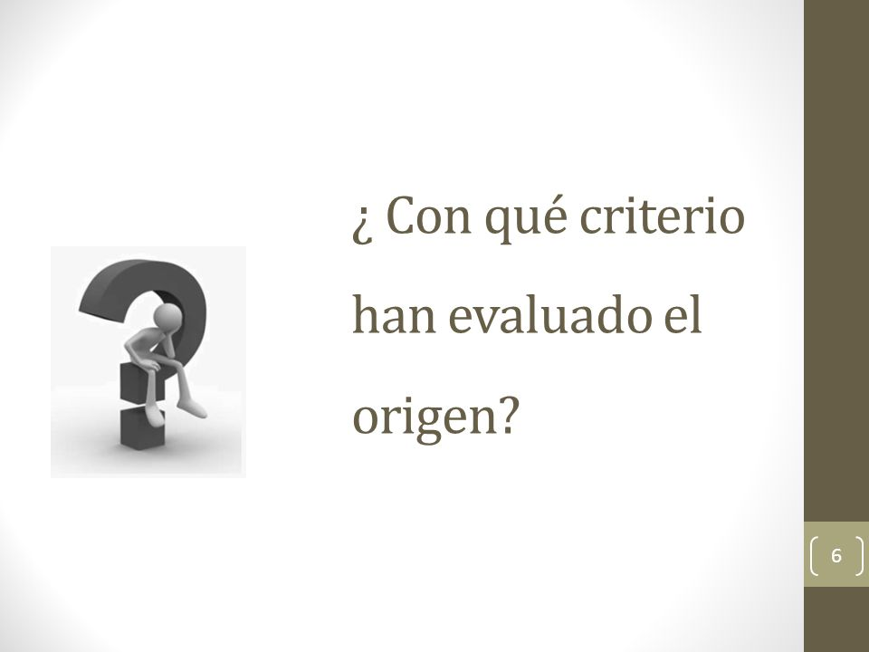 Criterios de Calificación de origen TO REO