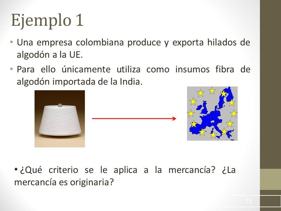 Una empresa colombiana produce y exporta hilados de algodón a la UE.