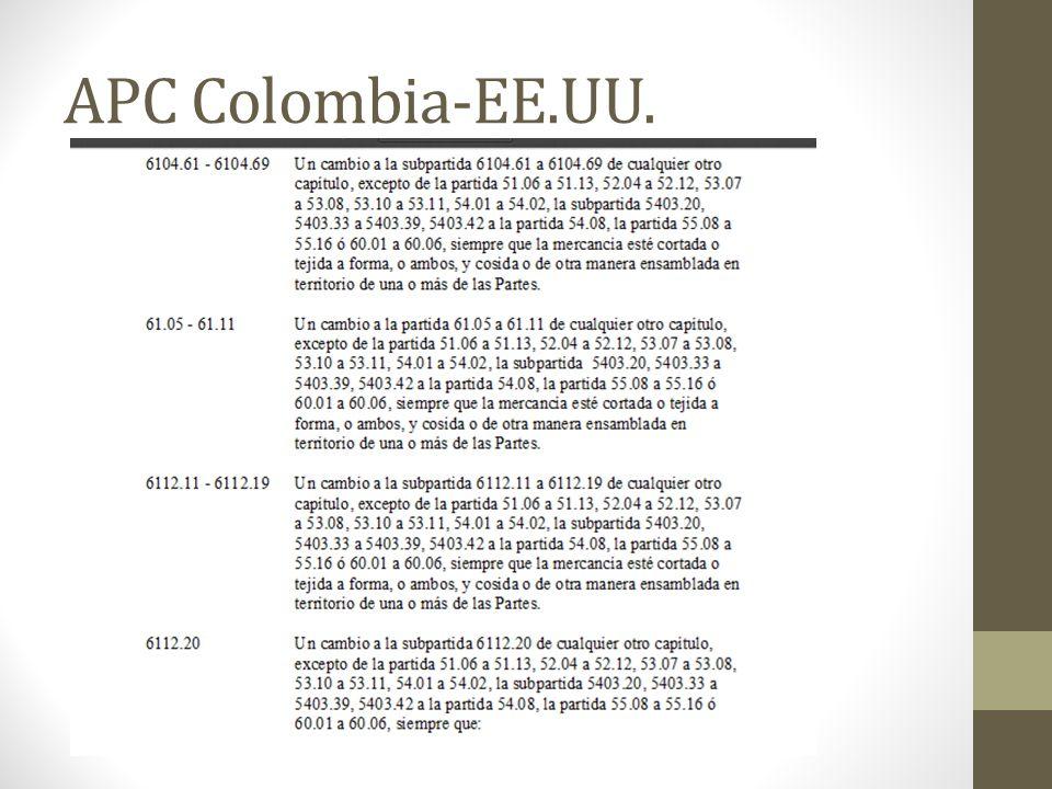 APC Colombia-EE.UU.