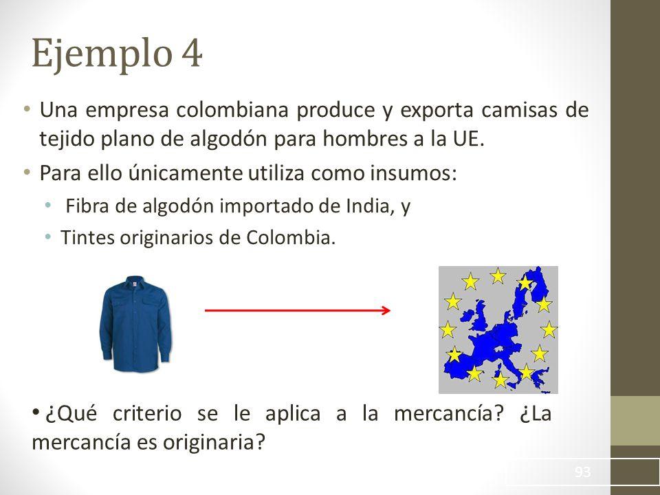 Una empresa colombiana produce y exporta camisas de tejido plano de algodón para hombres a la UE.