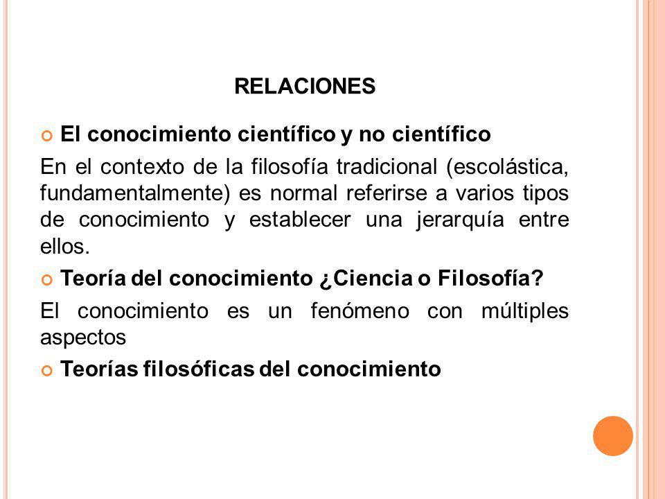 LA GNEOSOLOGIA La Gnoseología o Teoría del Conocimiento es una de las ramas clásicas de la Filosofía.