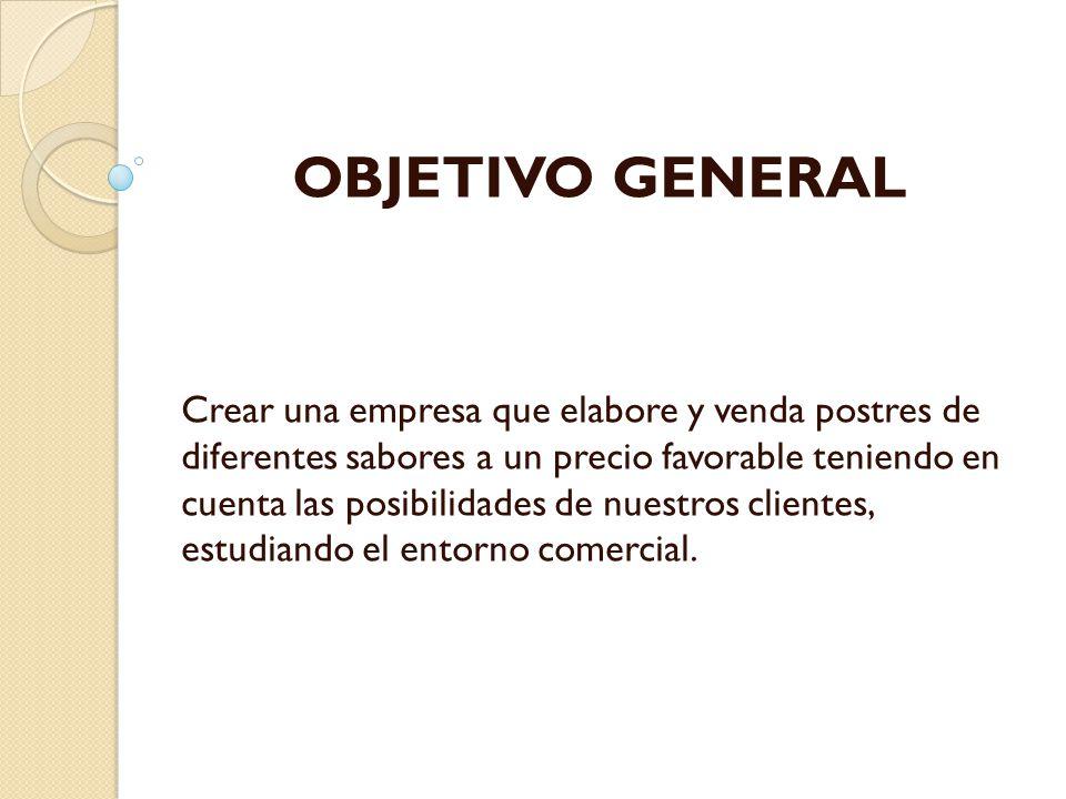 OBJETIVOS ESPECIFICOS Brindar una excelente atención al cliente Ofrecer el mejor servicio, producto, calidad e higiene.