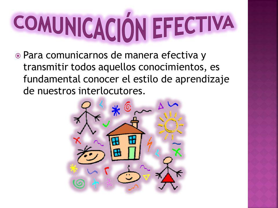 Para comunicarnos de manera efectiva y transmitir todos aquellos conocimientos, es fundamental conocer el estilo de aprendizaje de nuestros interlocutores.