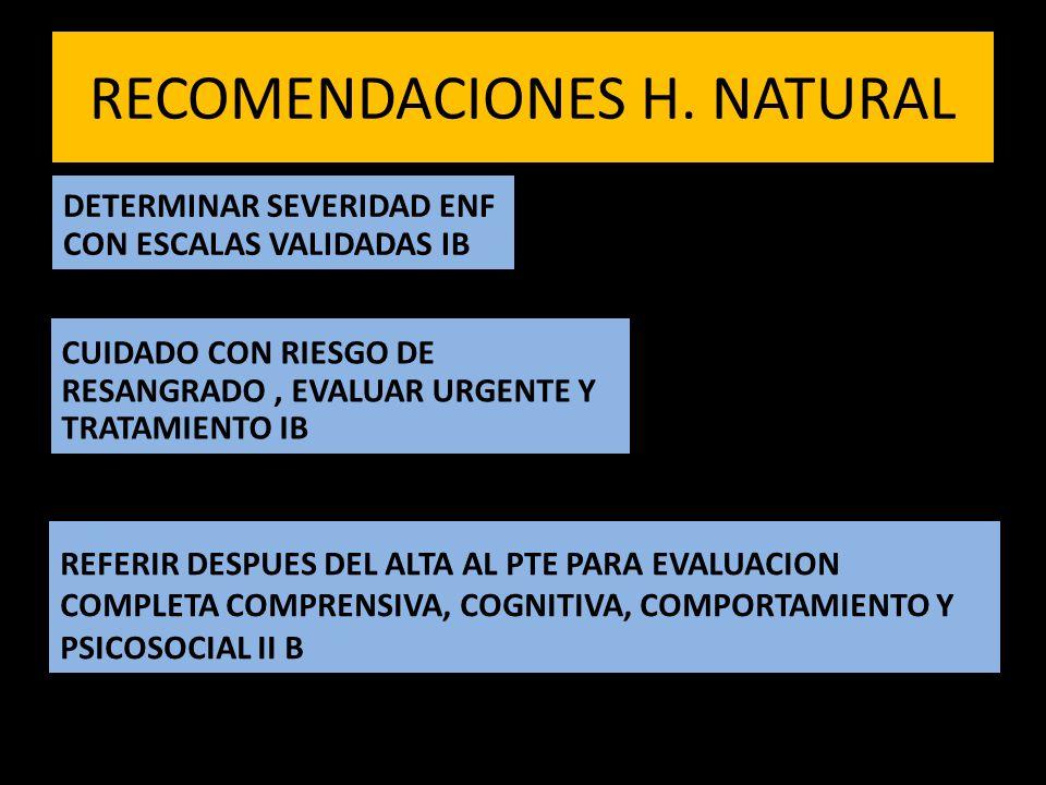 RECOMENDACIONES H.