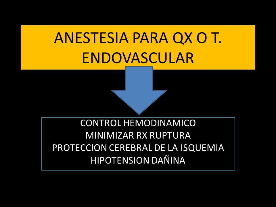 ANESTESIA PARA QX O T.