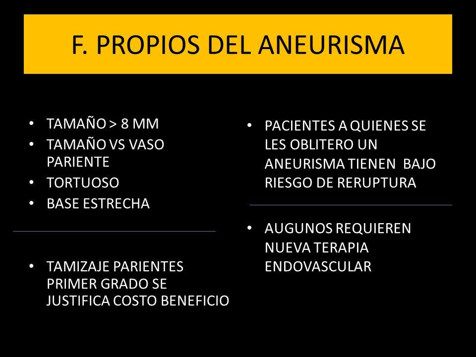 MULTIPLES PRUEBAS DX ANGIORESONANCIA ANEURISMAS < 3 MM MAS TIEMPO + COSTOS PTE QUIETO ANGIOGRAFIA X SUSTRACCION DIGITAL(DSA) DSA + 3D TAC MMBE : TAC MULTISECCION CON ELIMINACION HUESO TAC ENERGIA DUAL ANGIOGRAFIA CEREBRAL TAC VOLUMENTRICO DE PANEL PLANO