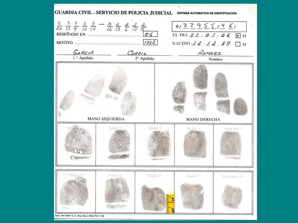 Reseñas Personales Identificación Personal