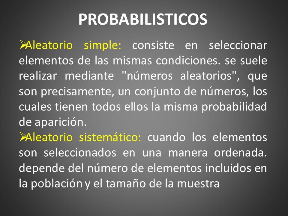Estratificado: consiste en dividir la población en estratos con semejanzas entre si.