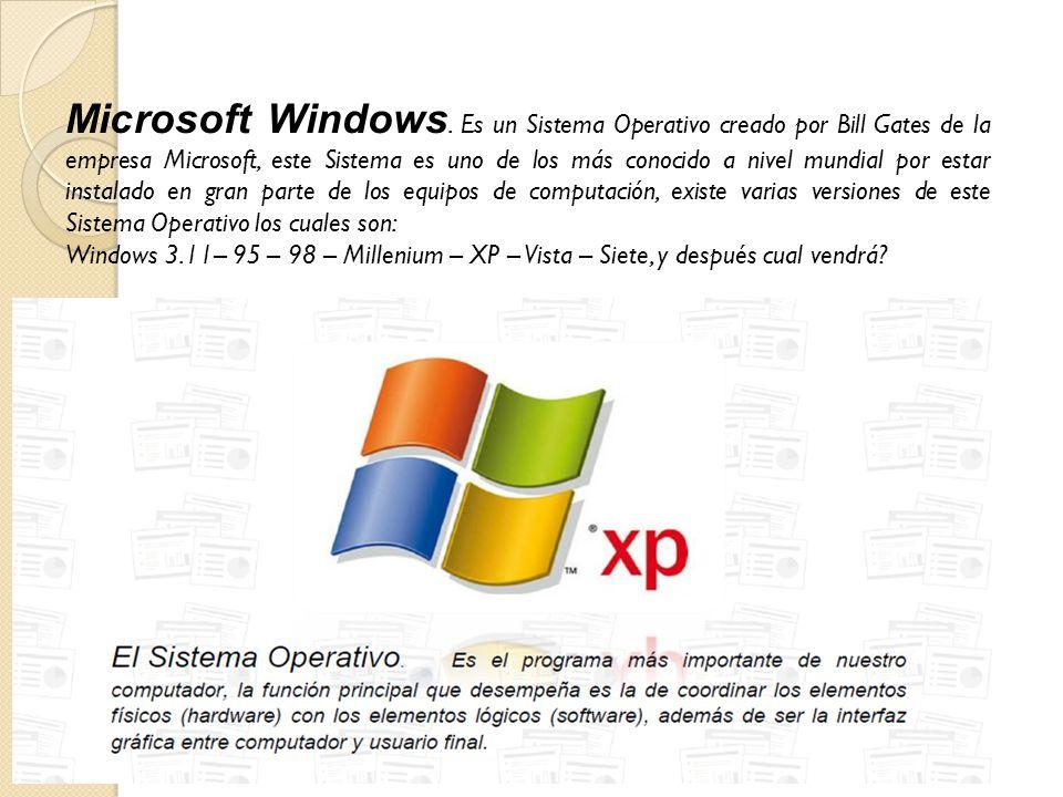 Microsoft Windows.