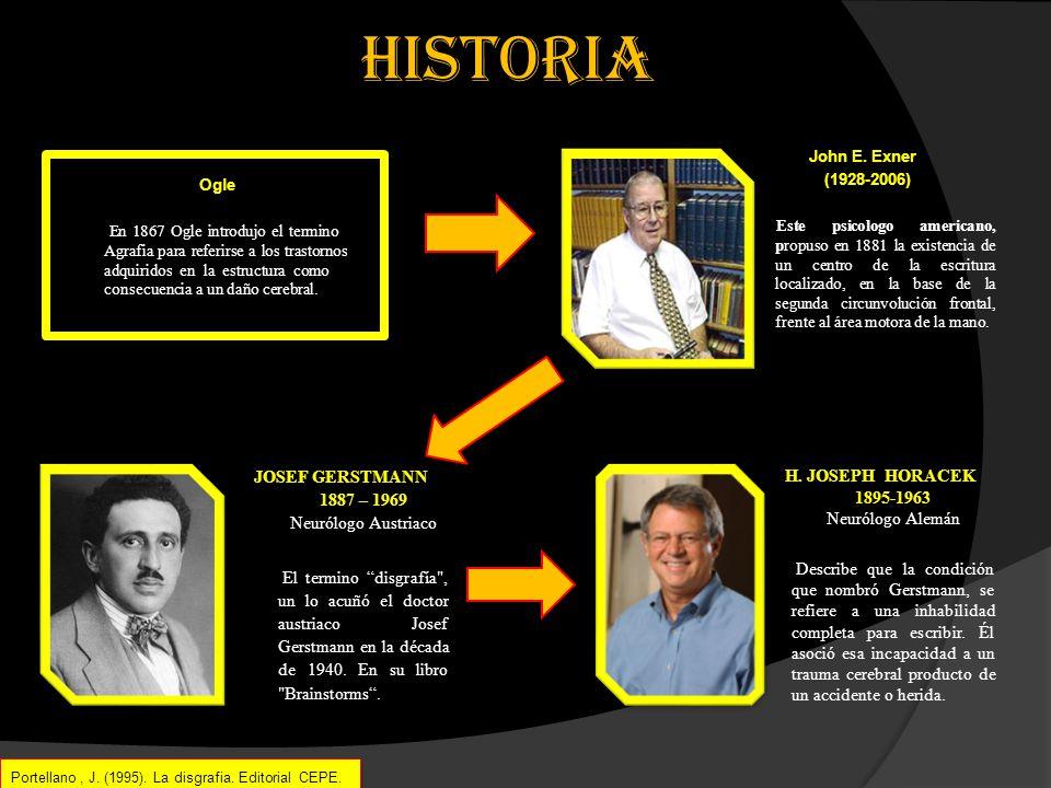 para destacar… Portellano, J. (1995). La disgrafia. Editorial CEPE.. Portellano, J. (1995). La disgrafia. Editorial CEPE..