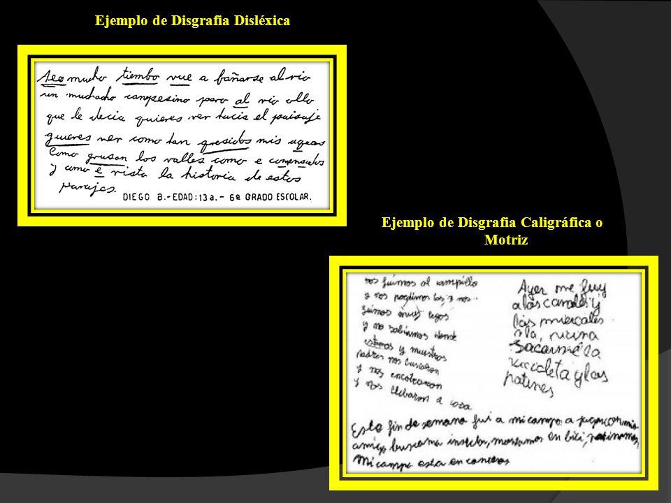 clasificación DE la disGRAFIA Los trastornos de escritura infantil que entran en la categoría de disgraficos pueden afectar a la simbolización o a la