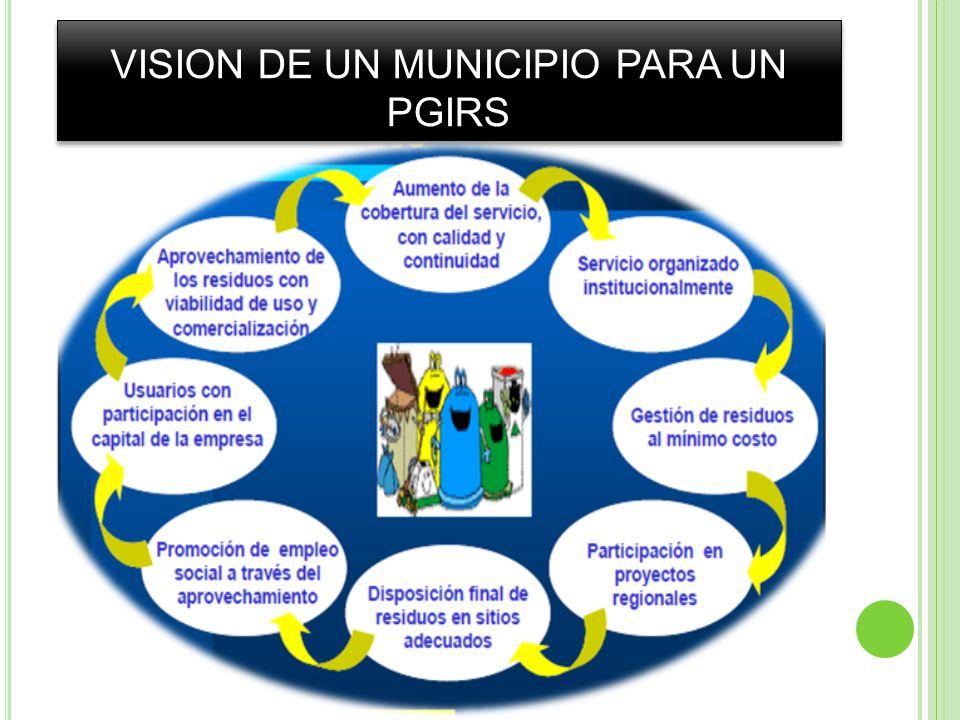VISION DE UN MUNICIPIO PARA UN PGIRS