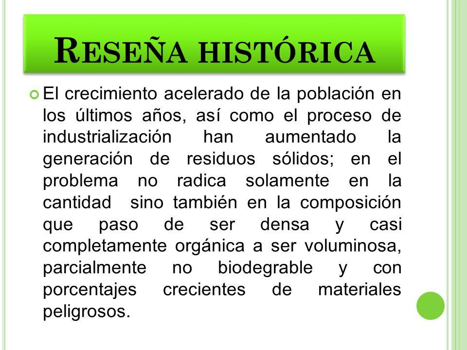 BASURA Es todo material considerado como desecho que se necesita eliminar, es un producto de las actividades humanas el cual NO presenta ninguna utilidad.