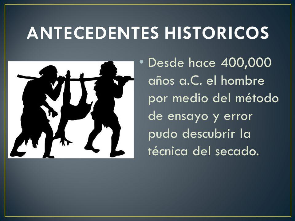 Desde hace 400,000 años a.C.