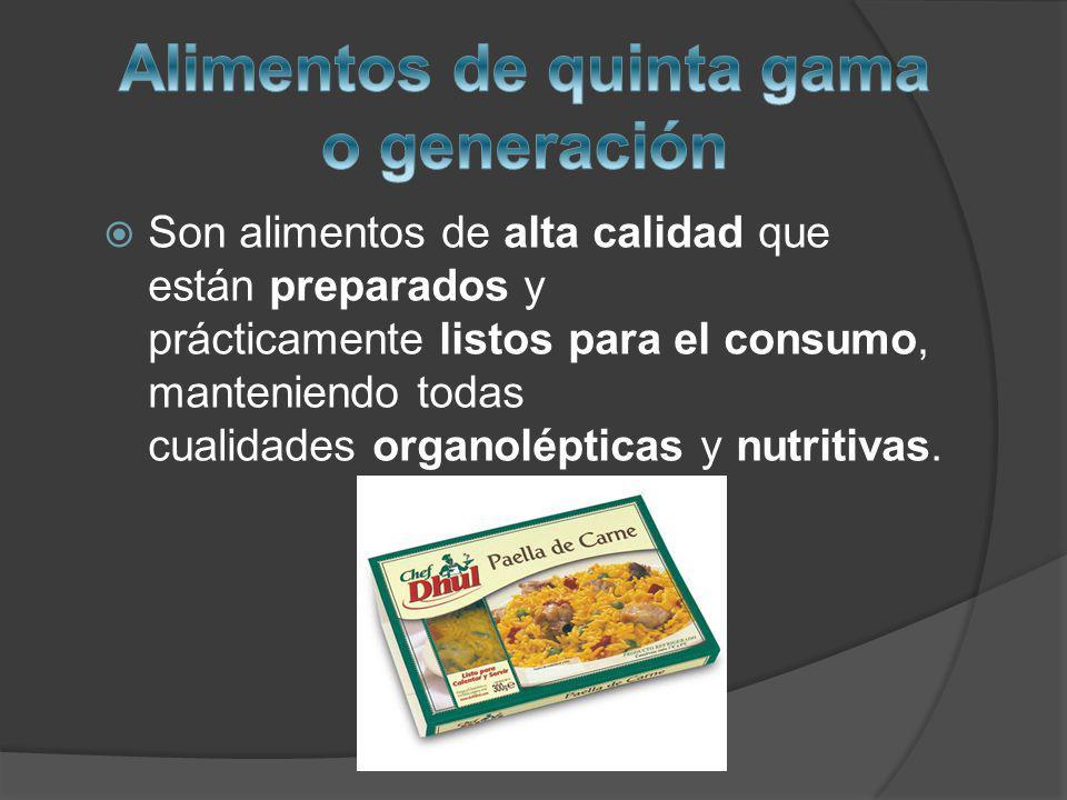 Son alimentos de alta calidad que están preparados y prácticamente listos para el consumo, manteniendo todas cualidades organolépticas y nutritivas.