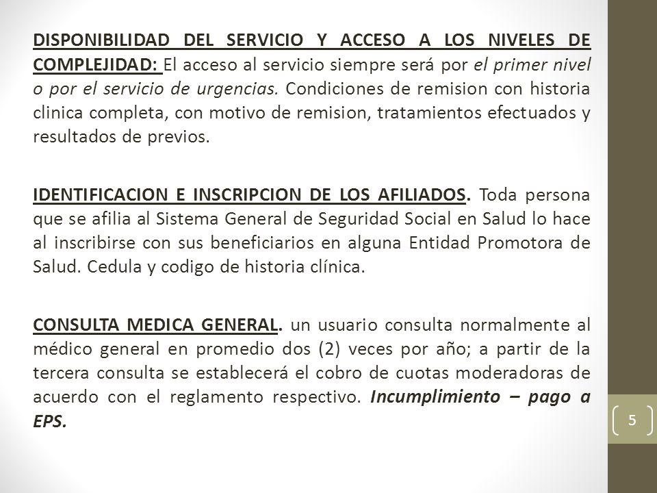 INSCRIPCION OBLIGATORIA EN LAS GUIAS DE ATENCION INTEGRAL.