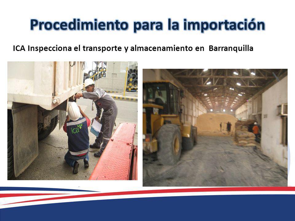 ICA Inspecciona el transporte y almacenamiento en Barranquilla