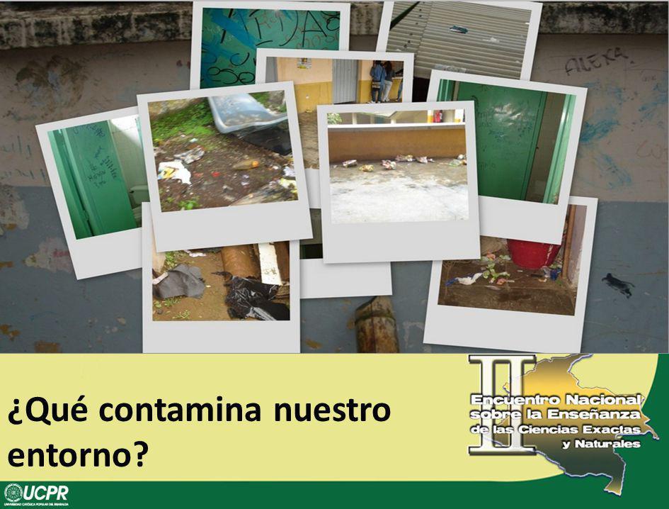 ¿Qué contamina nuestro entorno?