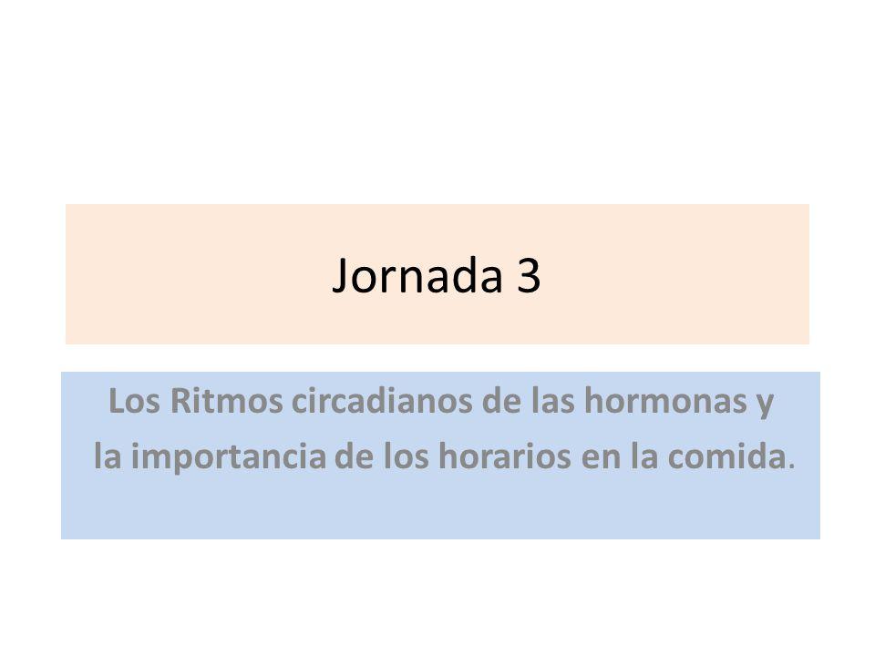 Jornada 3 Los Ritmos circadianos de las hormonas y la importancia de los horarios en la comida.