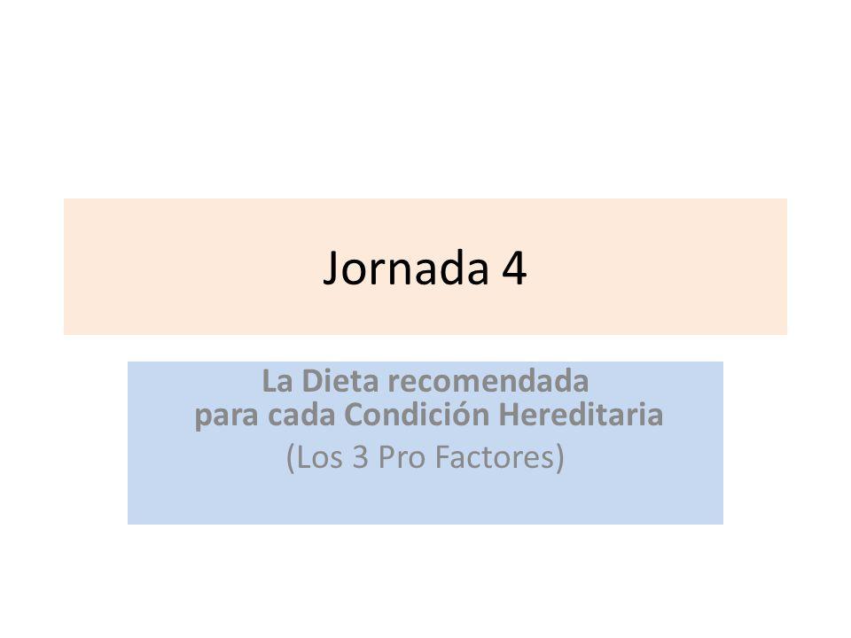 Jornada 4 La Dieta recomendada para cada Condición Hereditaria (Los 3 Pro Factores)