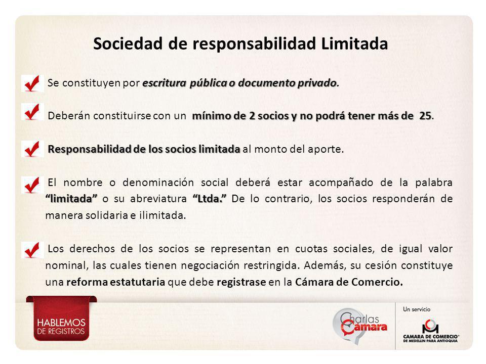 Vicepresidencia de Proyección Corporativa Sociedad de responsabilidad Limitada escritura pública o documento privado Se constituyen por escritura públ