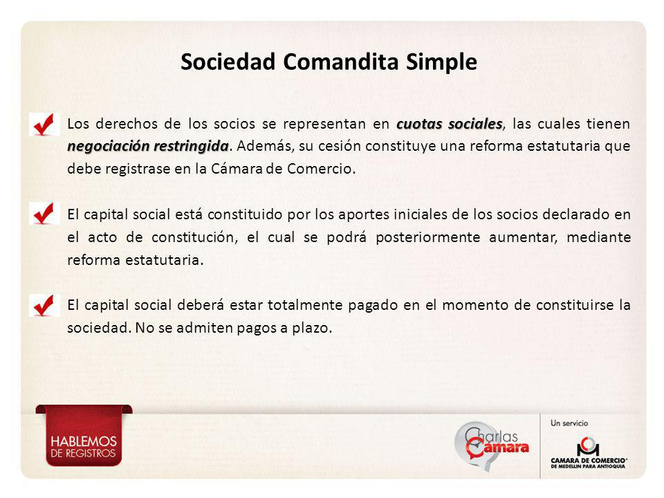 cuotas sociales negociación restringida Los derechos de los socios se representan en cuotas sociales, las cuales tienen negociación restringida. Ademá