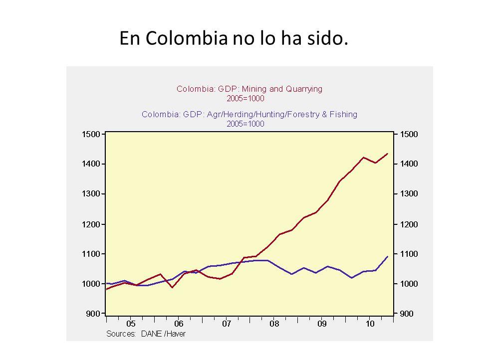 En Colombia no lo ha sido.