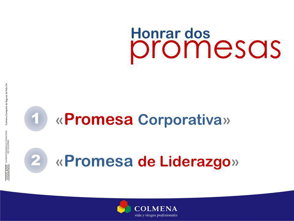 1 « Promesa Corporativa» « Promesa de Liderazgo» Honrar dos promesas 2