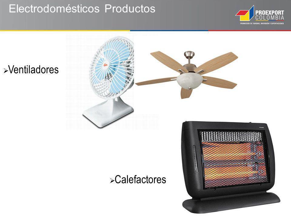 Electrodomésticos Productos Calefactores Ventiladores