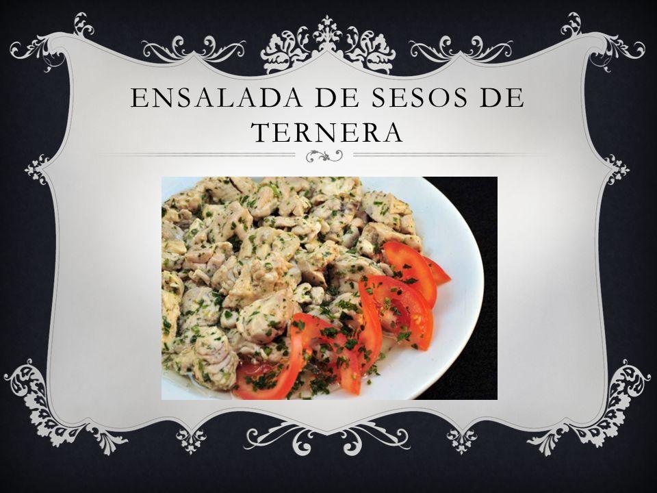 ENSALADA DE SESOS DE TERNERA
