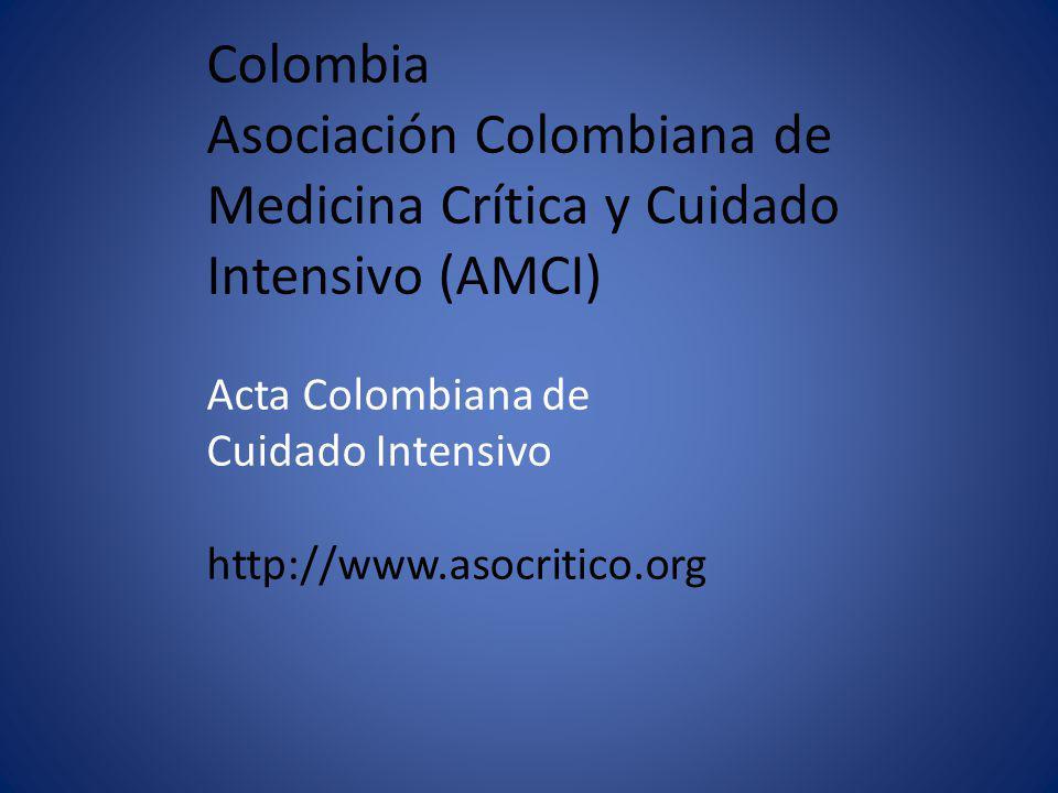 Colombia Asociación Colombiana de Medicina Crítica y Cuidado Intensivo (AMCI) Acta Colombiana de Cuidado Intensivo http://www.asocritico.org