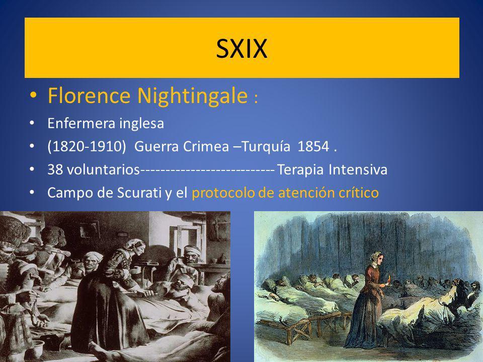 Florence Nightingale : Enfermera inglesa (1820-1910) Guerra Crimea –Turquía 1854.