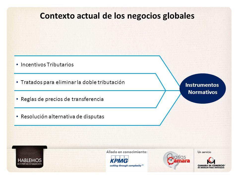 Aliado en conocimiento: Incentivos Tributarios Tratados para eliminar la doble tributación Reglas de precios de transferencia Resolución alternativa d